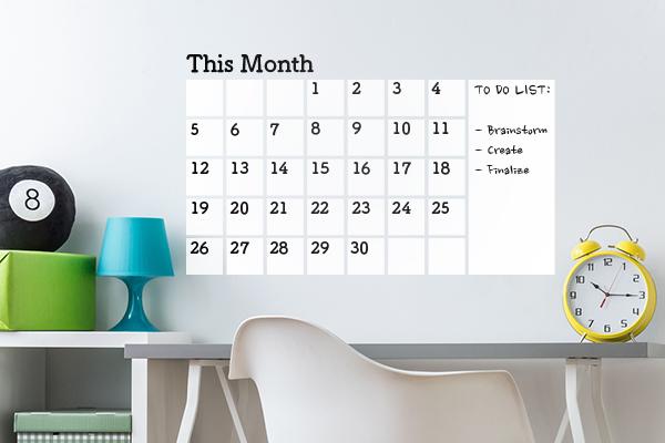 calendar dry erase