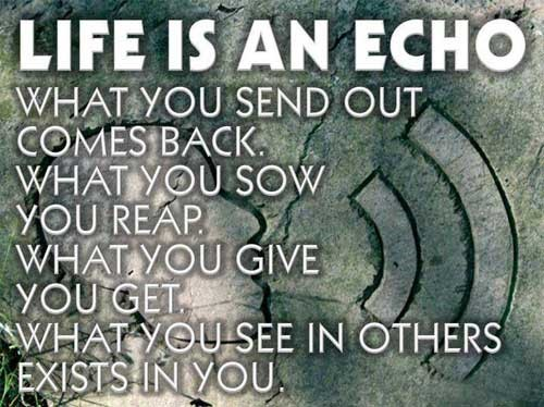 Life is an echo