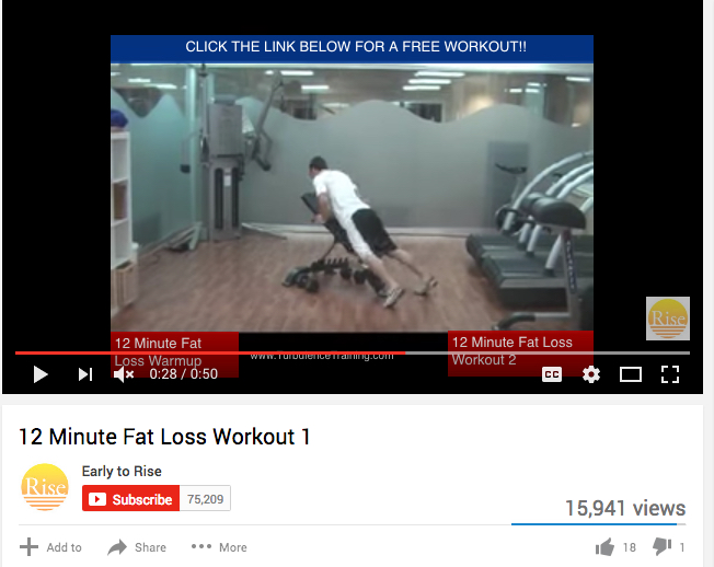Fat loss workout video ss