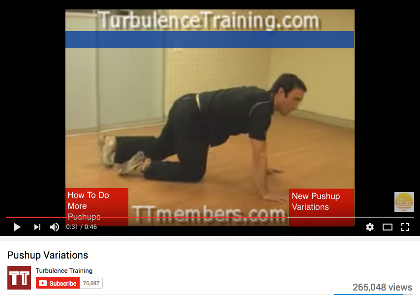 Pushup variations video