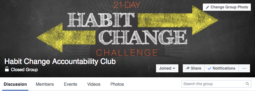 Habit change fb group