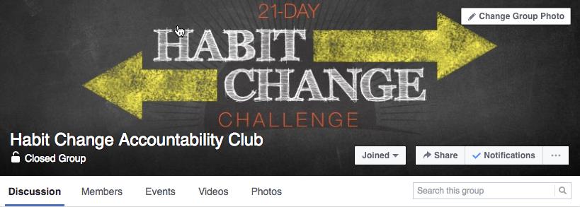Habit change fb group