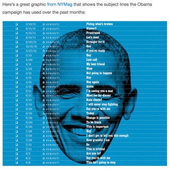 Obama-Approved Email Subject Lines