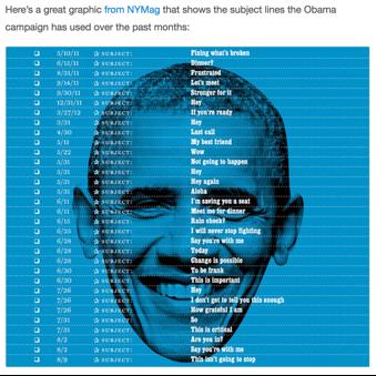 Obamasubjectlines