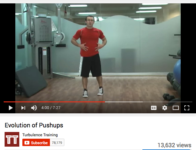 Evolution of pushups