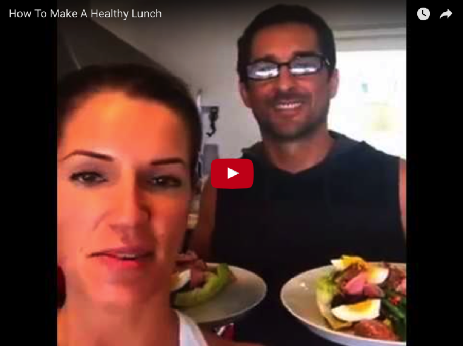 How to make healthy lunch video still