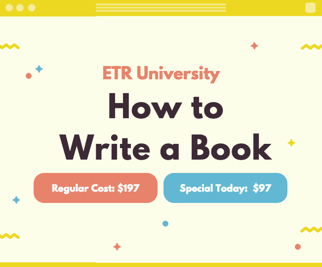How to write a book etru