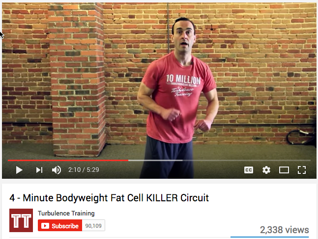4 minute bodyweight fat cell killer