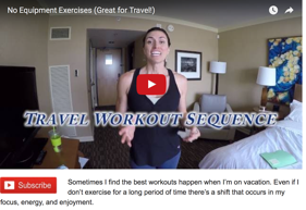 Missi travel workout