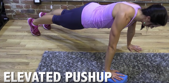 Elevated pushup