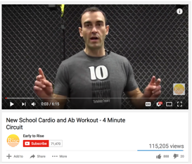 Cardio and ab workout