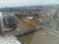 Riding high in the sky in the london eye